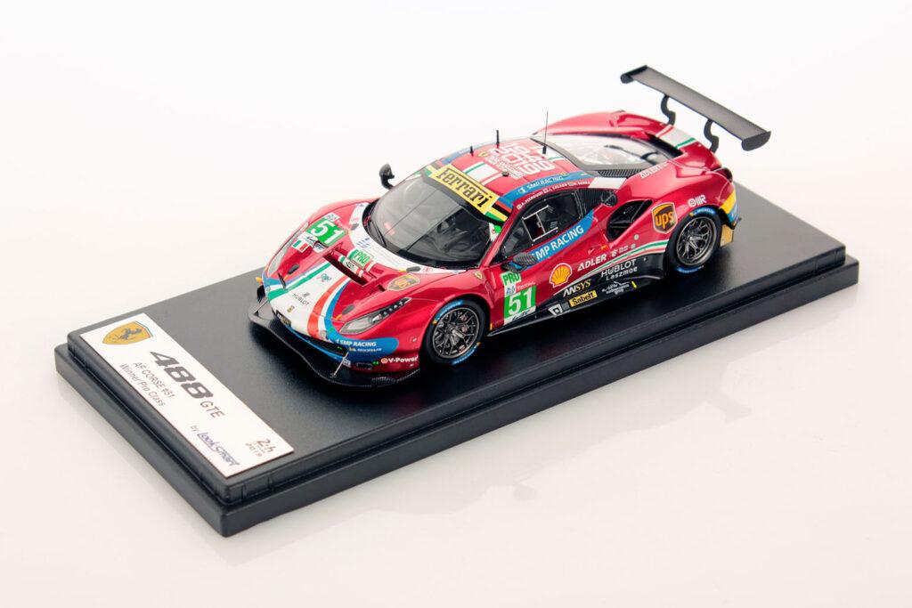 24 Heures du Mans 2019 20ème vainqueur LM GTE Pro - Ferrari 488 GTE Evo - 1/43ème Looksmart (photo Looksmart)