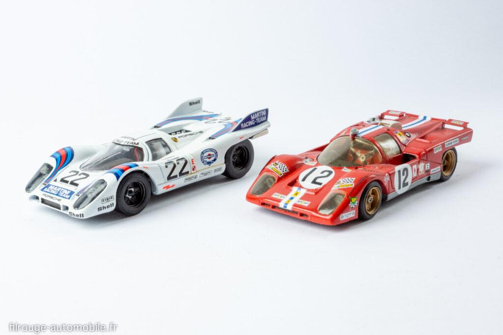24 Heures du Mans 1971 - Porsche 917 vainqueur et Ferrari 512 M 3ème - 1/43ème Solido / M.P.A