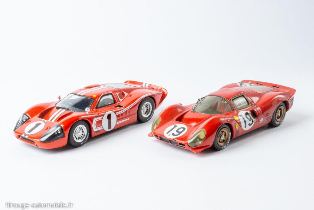 24 Heures du Mans 1967 - Ford MkIV vainqueur et Ferrari P4 -1/43ème Altaya / AMR