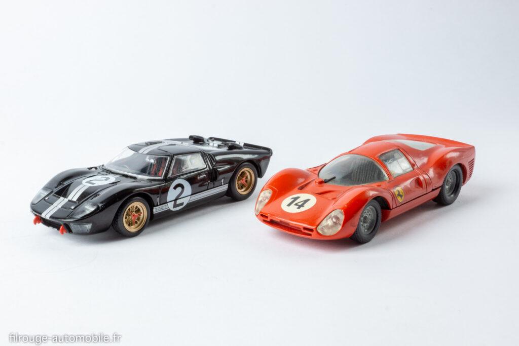 24 Heures du Mans 1966 - Ford GT 40 vainqueur et Ferrari P3 -1/43ème Altaya / Solido