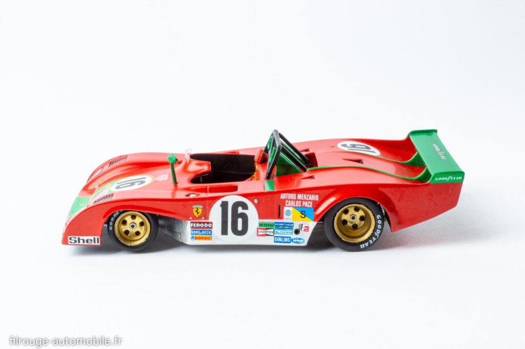 24 Heures du Mans 1973 - Ferrari 312 PB 2ème - 1/43ème Red Line