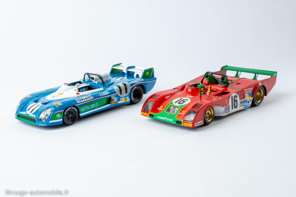 24 Heures du Mans 1973 - Matra  670 B vainqueur et Ferrari 312 PB 2ème - 1/43ème Altaya / Red Line