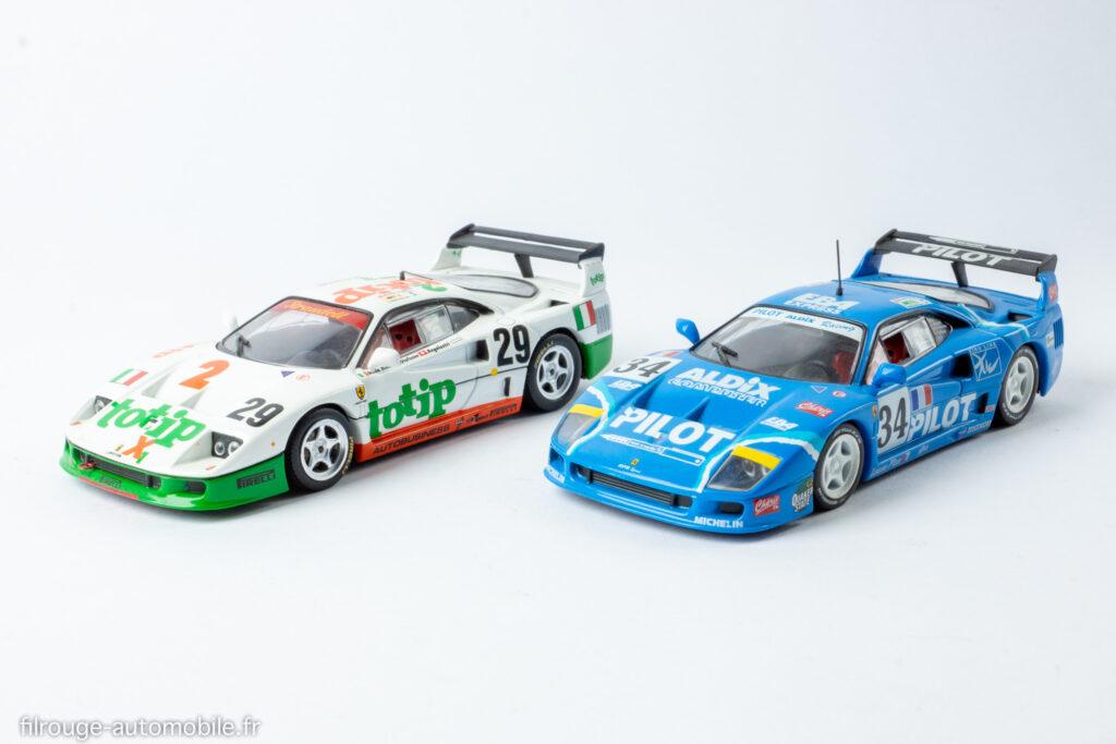 24 Heures du Mans 1994 et 1995 - Ferrari F 40 Abandon et 12ème - 1/43ème IXO