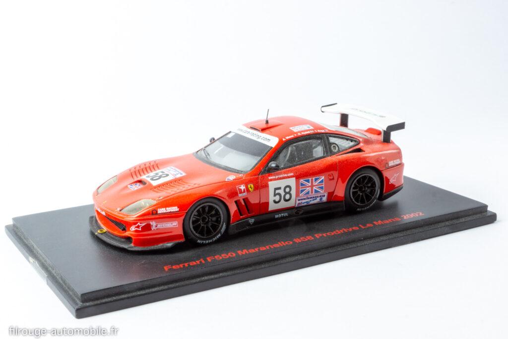 24 Heures du Mans 2002 Abandon - Ferrari F550 Maranello - 1/43ème Red Line