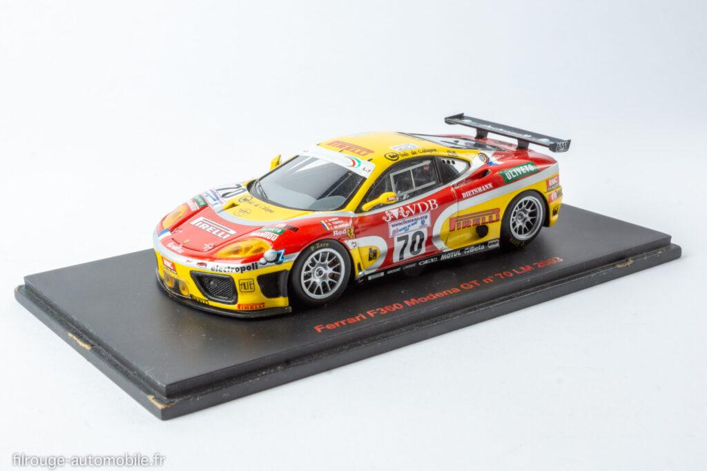 24 Heures du Mans 2003 25ème - Ferrari F360 Modena GT - 1/43ème Red Line