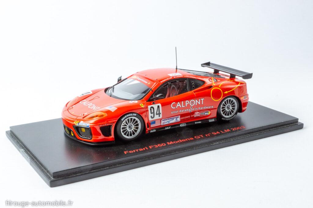24 Heures du Mans 2003 26ème - Ferrari F360 Modena GT - 1/43ème Red Line