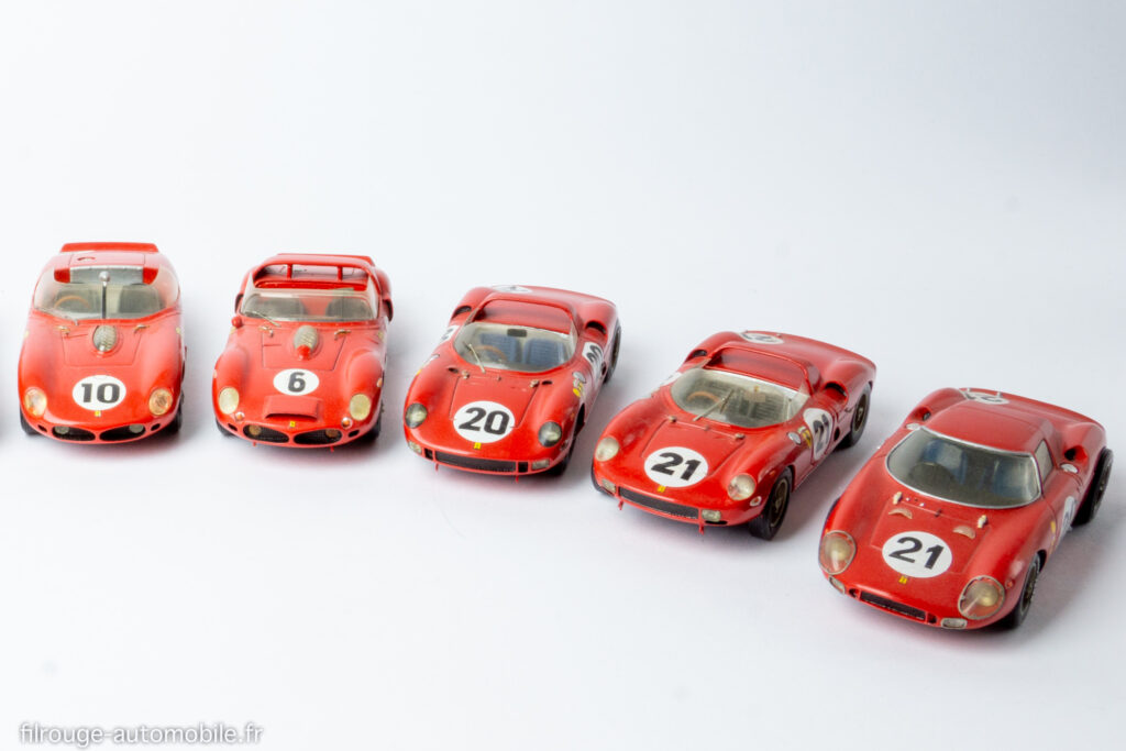 Les 5 derniers vainqueurs Ferrari aux 24 Heures du Mans - 1/43ème