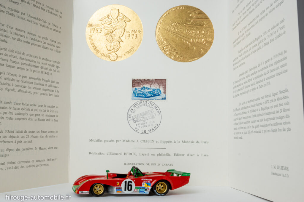 Commémoration du cinquantenaire des 24 Heures du Mans  et la Ferrari 312 PB de 1973