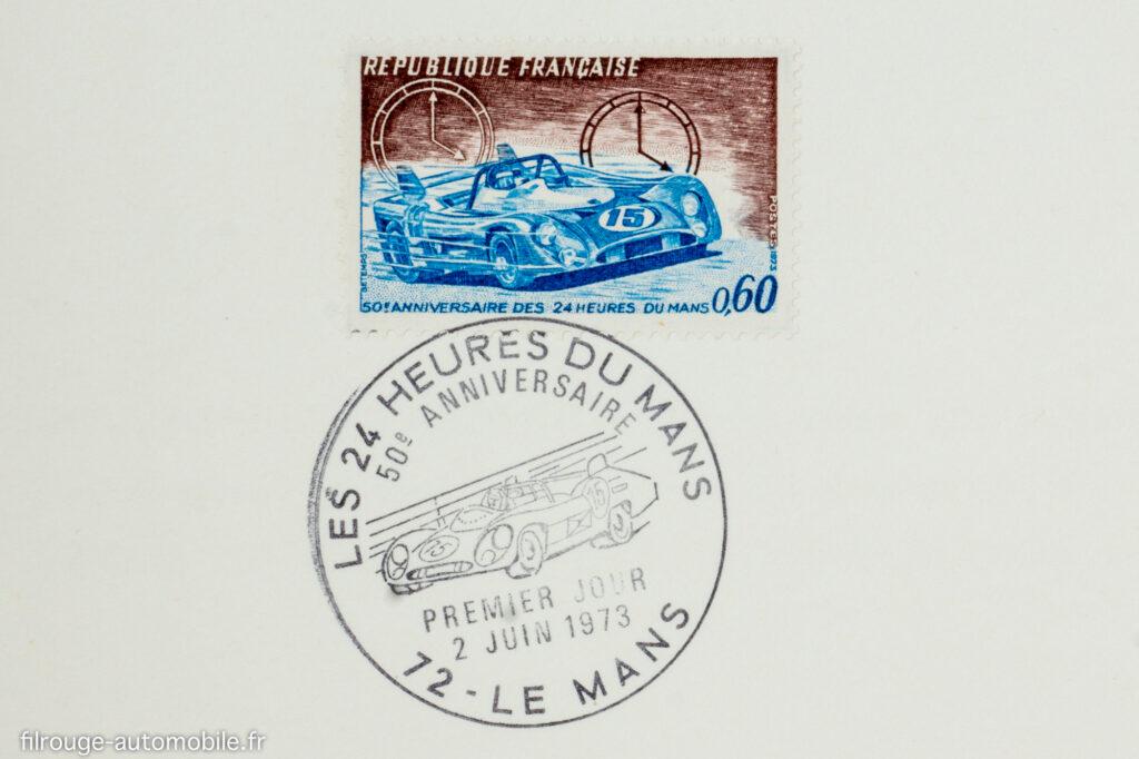 Timbre commémoratif du cinquantenaire des 24 Heures du Mans