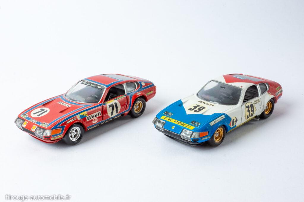 24 Heures du Mans 1974 et 1972 - Ferrari 365 GTB 4 Daytona vainqueurs GTS 5ème - 1/43ème base Solido