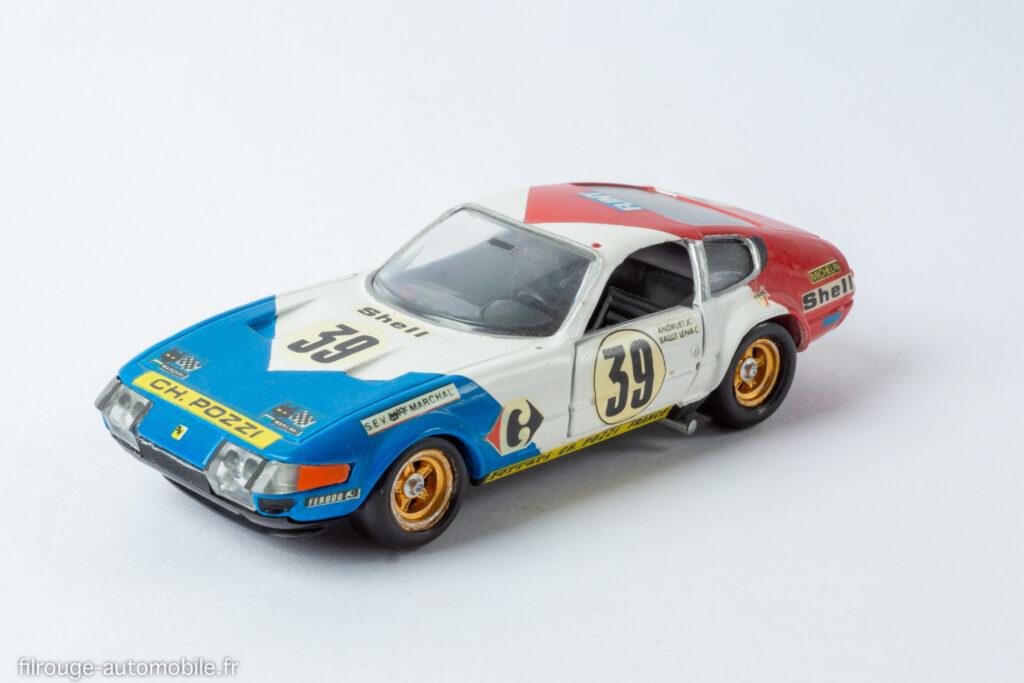 24 Heures du Mans 1972 - Ferrari 365 GTB 4 Daytona vainqueur GTS 5ème - 1/43ème base Solido