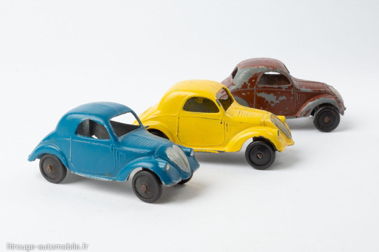 Dinky Toys réf. 35 a - Simca 5 - trois coloris
