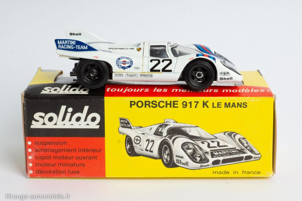 Solido 198 modèle amélioré - Porsche 917 1ère du Mans 1971