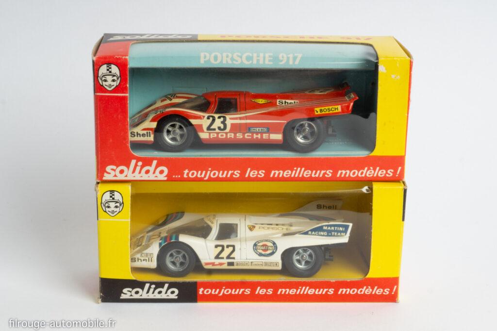 Solido 186 et 198, Porsche 917 1ère du Mans 1970 et 1971
